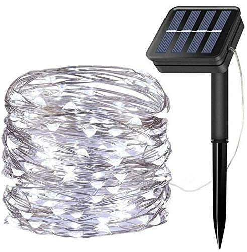 Grandwill Solar String Lights, 72 Feet 200 LED Copper Wire Lights, Fairy String Lights, Indoor/Outdoor Waterproof Solar Decoration Lights for Garden, Home, Dancing, Holiday, Party (White)