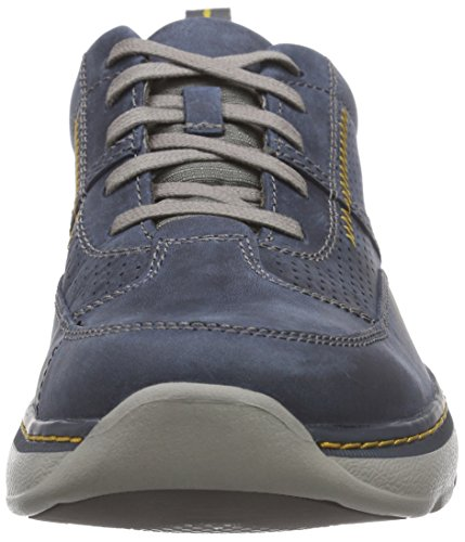 Clarks Clarks Herren Charton Mix Derby, Blau (Navy Leather), 39.5 EU