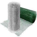 casa pura® Drahtgitter grün | 4-Eck-Geflecht Volierendraht, mit PVC-Beschichtung | Länge und Höhe wählbar (100x500 cm)
