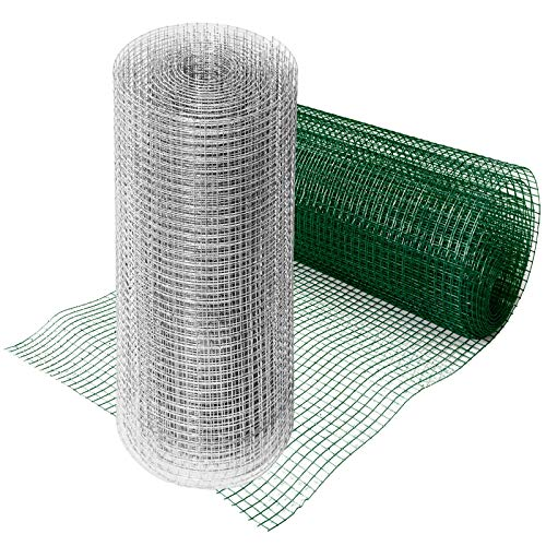 casa pura® Drahtgitter verzinkt | Testnote 1,4 | 4-Eck-Geflecht Drahtzaun | Länge und Höhe wählbar (50x1000 cm)