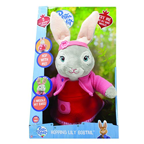 Peter Rabbit PO1450 Cbeebies Talking and Hopping Lily Bobtail Peluche