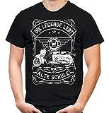 Alte Schule SR59 Männer und Herren T-Shirt | Roller Moped IWL Troll IFA DDR (L, Schwarz)
