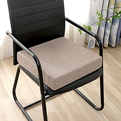 TongJie Cojín grueso para silla de jardín, cojín cuadrado para silla de comedor, cojín para sofá, sillón, cojín de piso suave y tacto para interior y exterior