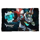 Trevco Voltron: Legendary Defender in Space Fleece Blanket
