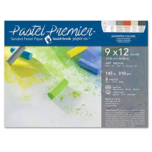 Speedball Premier Sanded Pastel Paper, 9 x 12, Assorted Colors