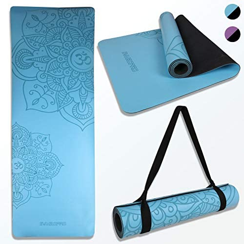 GYMBOPRO PU Yoga Mat Nonslip Eco Friendly Natural Rubber Mat Hot Soft Durable Tear Resistant product image