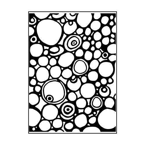 Carabelle Studio Cartella per Goffratura Mascherina Stencil Circolo e Punti, Plastic, Transparent, 10.8x14.6x0.11 cm