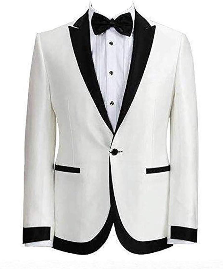 Fashion Suit Mens One Button Shawl Lapel Slim Fit Tux Blazer Groom Stylish Suit Coat Jacket