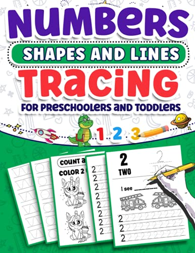 Compare Textbook Prices for Numbers Shapes And Lines Tracing for Preschoolers and Toddlers: Number Tracing Practice Homeschool Workbook for Pre K, Counting and Coloring Games - ... Lines Trace Kindergarten and Kids Ages 2-4  ISBN 9798741067536 by Publishing, FlyerProdCo