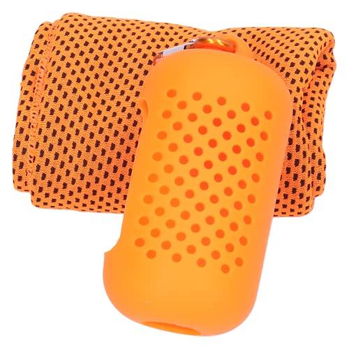 BOTEGRA Toalla de poliéster, Toalla Deportiva con Hebilla Toalla de enfriamiento Diseño de Funda de Silicona Hueca Suave y cómoda para Deportes al Aire Libre para Uso doméstico