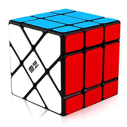 TOYESS Fisher Cube 3x3 Cubo Mágico Juguete de Rompecabezas para Niños y Adultos, Negro