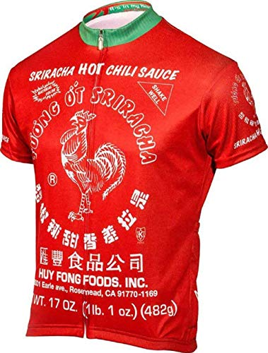 The Triathlete Store Sriracha Men's Road Cycling Jersey (Small) Red