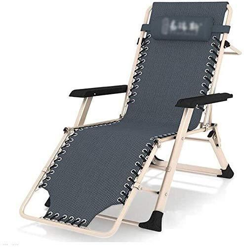 YUDIAN Sofá Perezoso para el Almuerzo, sillón reclinable Plegable de Gravedad Cero, Silla reclinable en la terraza para Acampar en la Playa, jardín (Color: B)