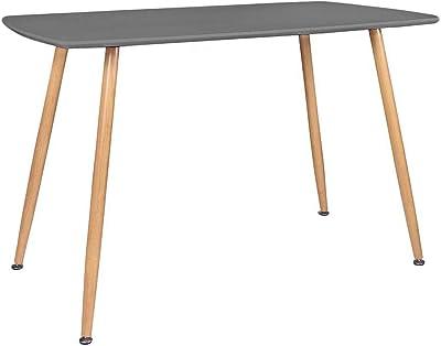 Zons Table Salle À Manger Stockholm L120xL80xH75cm Gris