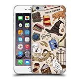 Head Case Designs Officially Licensed Harry Potter Hogwarts Pattern Deathly Hallows XXXVII Soft Gel Case Compatible with Apple iPhone 6 Plus/iPhone 6s Plus