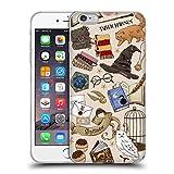 Head Case Designs Oficial Harry Potter Patrón Hogwarts Reliquias de la Muerte XXXVII Carcasa de Gel de Silicona Compatible con Apple iPhone 6 Plus/iPhone 6s Plus