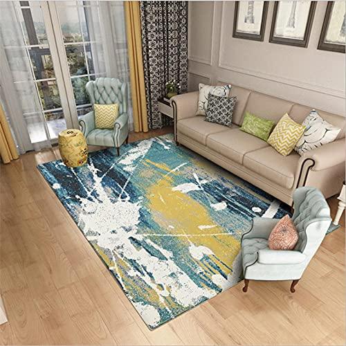 Diseño Moderno Alfombra Playas Sencillas de impresión y teñido 3D Adecuado para alfombras para Sala de Estar, Dormitorio, Estudio, habitación Infantil.,160x230(63X90inch)