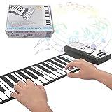 YuYzHanG Piano De Mano 61 Teclas del Teclado el Piano Digital Plegable for niños Adultos Principiantes Piano Portátil De Mano