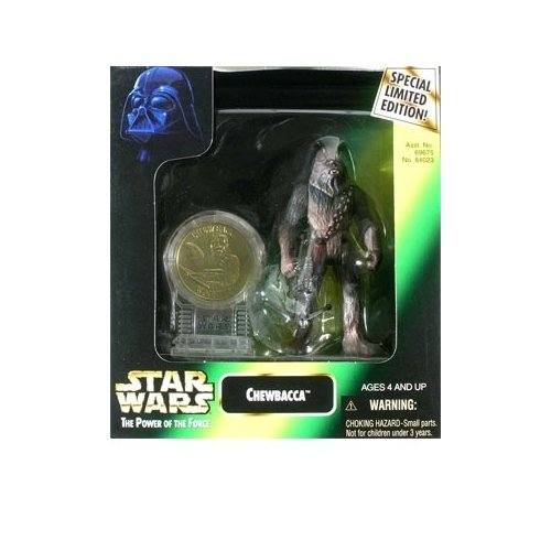 Star Wars: Power of the Force Millenium Coin Edition > Chewbacca Action Figure by Puzzle Zoo