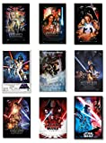POSTER STOP ONLINE Star Wars Episode I, II, III, IV, V, VI, VII, VIII & IX - Movie Poster Set (9 Individual Full Size Movie Posters - Version 4) (Size 27 x 40)