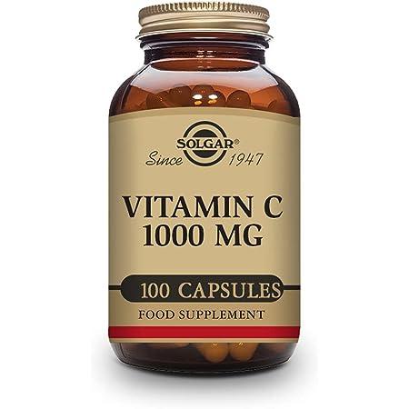 Solgar - Vitamina C 1000 Mg, Cápsulas Vegetales, Multicolor, Naranja, 100 Unidades, 260 Gramos