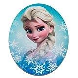 Disney Frozen El reino del hielo Set 2 piezas Elsa 1 – - Parches termoadhesivos bordados aplique para ropa, tamaño: 7,5 x 9 cm
