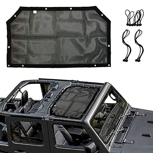 Rear Top Cargo Net Heavy Duty Universal Waterproof Car Roof Hammock Car Bed Rest for J-eep Wrangler YJ TJ JK JL 2007-2018 Pandaorv Mesh Cargo Net