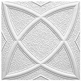 Marbet Design Placas de techo de poliestireno expandido, indeformables, 50 x 50 cm (20 m²)