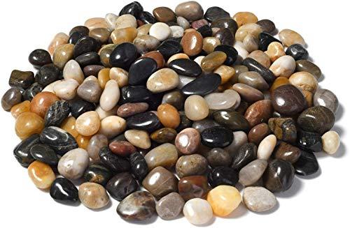 Msrlassn Piedras Decorativas,Piedras de Colores Mezclados pulidos Naturales,para Jardines, Bodas, acuarios y más decoración (Piedras pulidas de Colores Mezclados 1 kg)
