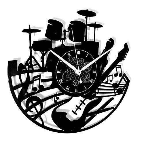 Instant Karma Clocks Wanduhr aus Vinyl LP 33 Umdrehungen Geschenkidee Vintage Handmade Gitarre Musik Tastatur Batterie
