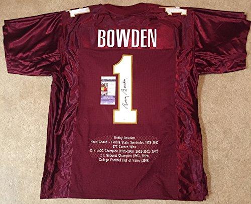 Bobby Bowden Florida State Seminoles NCAA Hand Signed Mini Football Helmet