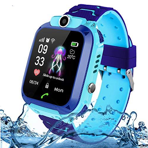 Bambini Smartwatch, Jaybest telefono intelligente orologio intelligente per bambini Lbs Tracker Sos Call Chiamata bidirezionale Sim Card Touch Screen Camera con gioco Regalo di compleanno per bambini