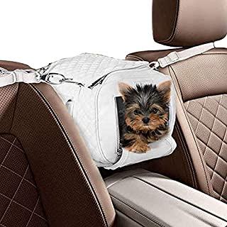 ZuGoPet Jetsetter Faux Leather Pet Carrier Handbag Purse Bag Dogs and Cats