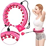 Aibyncoo Weighted Hula Hoops, 24 Detachable Knots Smart Fitness Hoop with Spinning Ball, Abdomen Fitness Massage for Adults