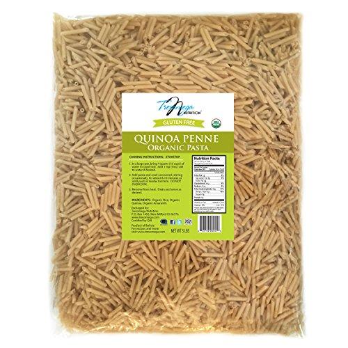 Tresomega Nutrition Organic Quinoa Pasta, Penne, 5 Pound