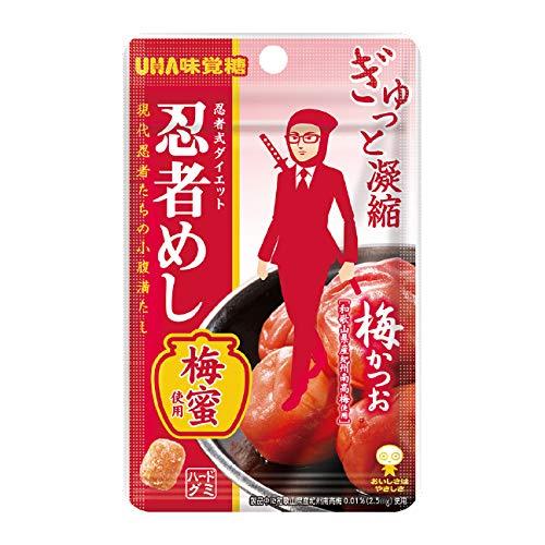 味覚糖 忍者めし 梅かつお味 240袋入(10×24)