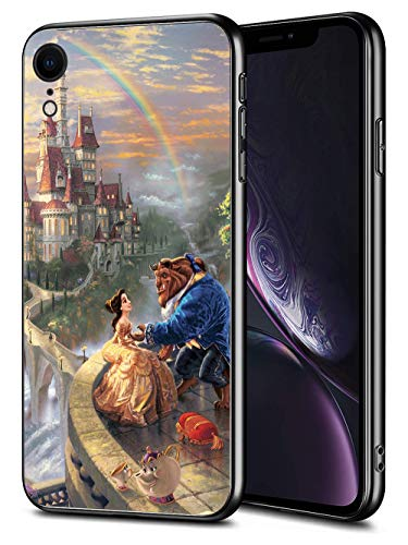 for iPhone XR Case TPU Soft Bumper Hard PC Slim Protective Back Cover 6.1-Inch (Beauty Belle Beast)