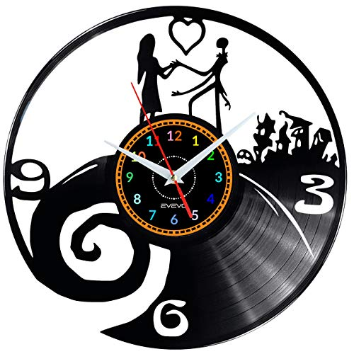 EVEVO Jack Skellington Sally Nightmare Horloge Murale...
