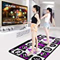 Double Dance Mat Wireless Play Mat,UMei Cordless Foldable Non-Slip TV Computer Dual-use Somatosensory Dance Mats for Adults Children,Dancer Step Pads Sense Game from UMei