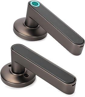 Bluetooth Door Lock, APP Keyless Home Security Lock Fingerprint Password Keyless Entry, USB Charging Bedroom for Home Offi...