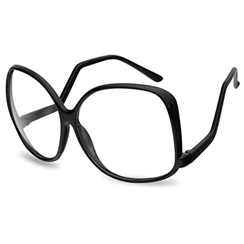 6723c8c95e41e Vintage Inspired Round Super Oversized Clear Lens Fashion Eye Glasses Non- Prescription