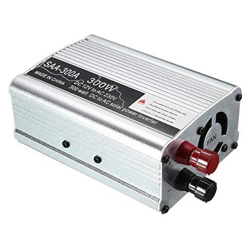Inversor de energia, 300W de Pico 12V DC a 220V AC Onda sinusoidal modificada Convertidor Solar Power Inverter (Color : White)
