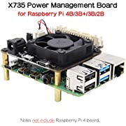 Raspberry Pi 4B/3B+/3B X735 Power Management with Safe Shutdown Auto Cooling Expansion Board Compatible with Raspberry Pi 4 Model B
