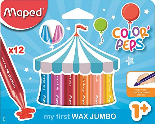 Maped Color' Peps Jumbo, Set de 12 Crayones
