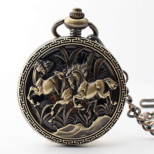 Sky God Relojes de Bolsillo, Reloj de Bolsillo del Caballo Animal Retro...