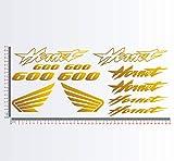 Kit Adesivi stickers compatibile HON HORNET 600 moto decal cod.1132 (091 ORO)
