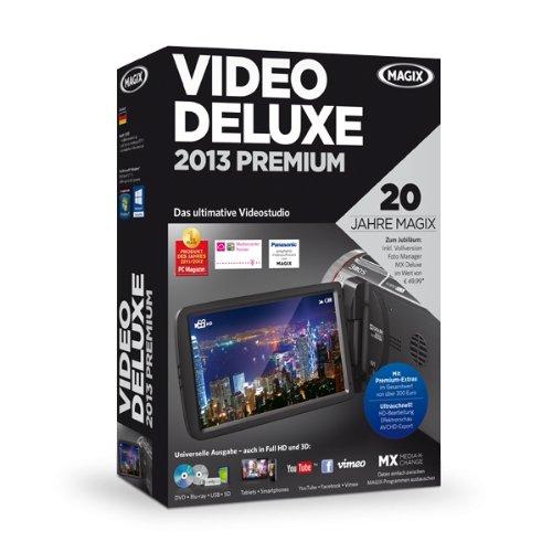 MAGIX Video deluxe 2013 Premium (Jubiläumsaktion inkl. Foto Manager MX Deluxe)