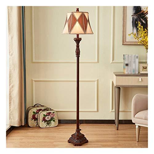 Staande lamp en ledlamp, Europese, retro, pianolamp, woonkamer, bank, slaapkamer, huis, hout, Scandinavisch kunsthars, verticaal, leeslamp, tafellamp, schakelaar op de voet.