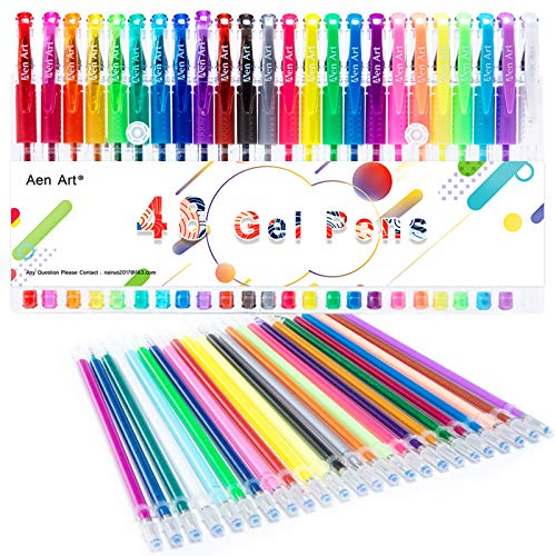 Aen Art Color Gel Pens for Kid Adult Coloring Books