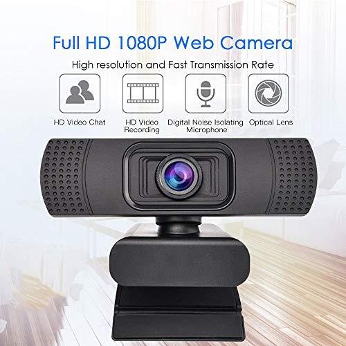 Web CAM Webcam 1080P USB Webcam Cámara Web Digital Full HD con micrófono Clip-On 2.0 megapíxeles CMOS de la cámara para el Ordenador portátil PC